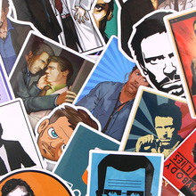 17pcs/lot House M.D. Creative Sticker for Paper Album Notebook Adhesive Tape Car Luggage Diy Decoration Graffiti Stickers AT1873
