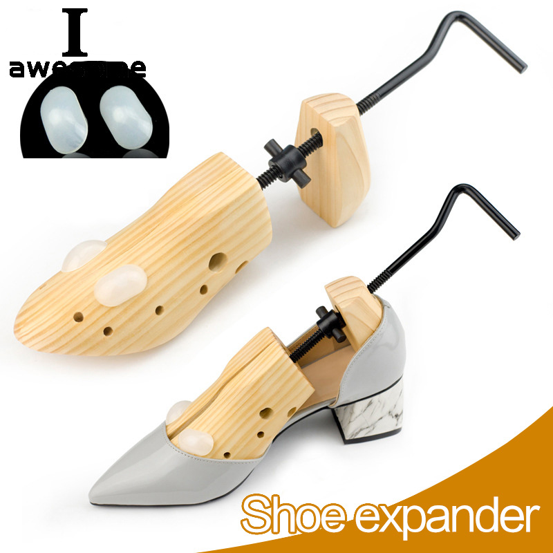 1 Piece Wood Wooden Shoe Trees Adjustable Shape For Women And Men Shoes Tree Professional Shoe Stretchers Pumps Boots Expander