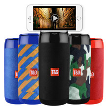 TG113C Portable Bluetooth Wireless Speakers Waterproof Stereo Column Mini Speaker with Mic FM Radio MP3 Bass Sound Box(China)