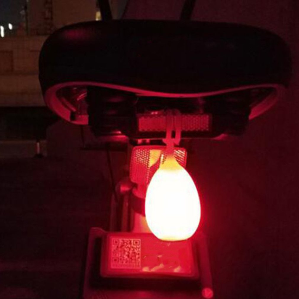 Usb Charging Bicycle Riding Tail Light Silicone Lamp Creative Egg Light Outdoor Backpack Lamp Hanging Lamp