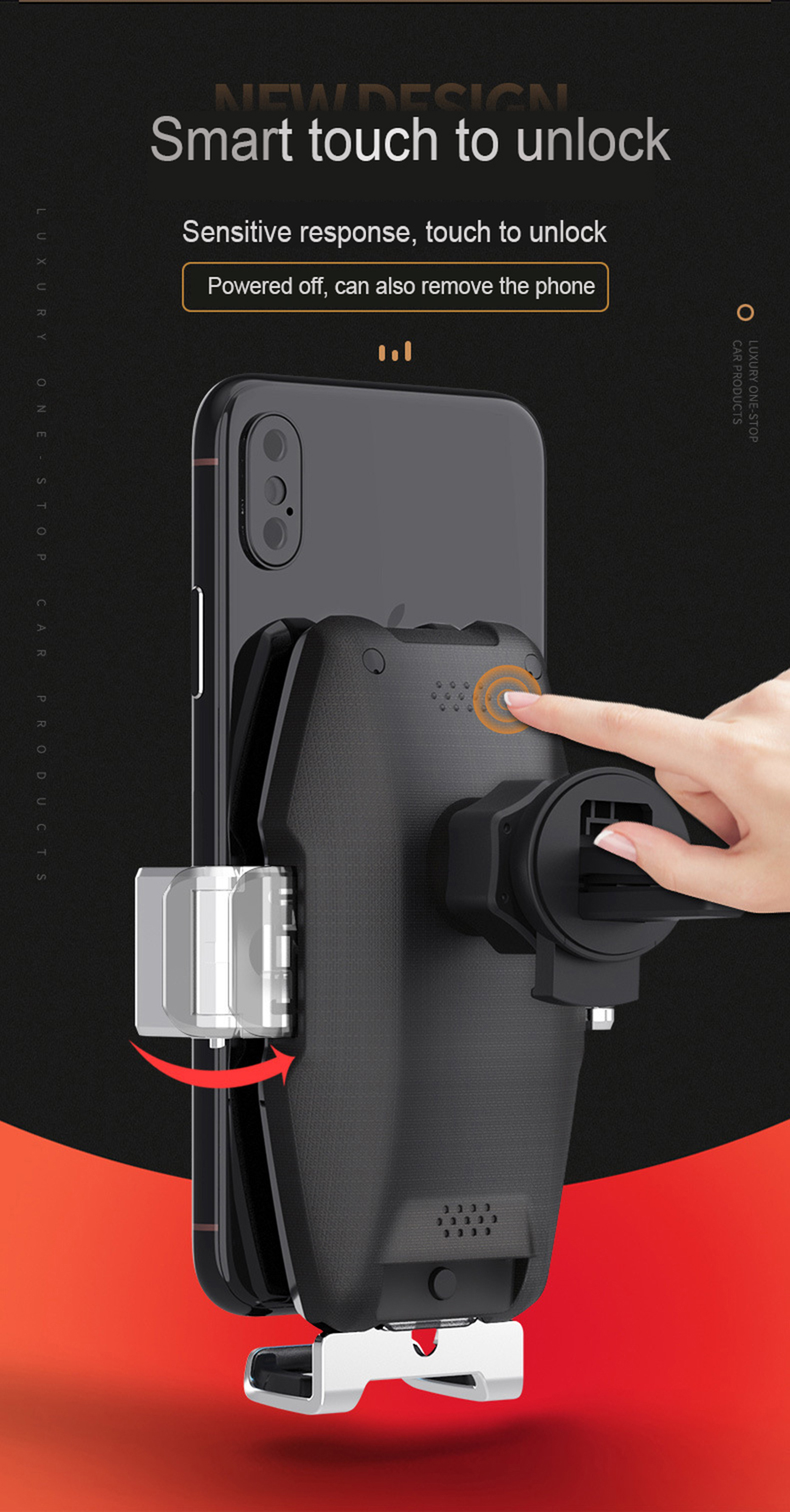 15W Car Wireless Phone Charger Automatic Clamp Qi Fast Charge Holder for iphone 11 pro max for Samsung S10 Phone Holder Charging