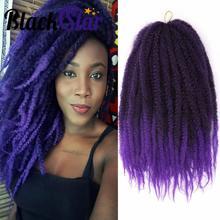 Kinky-Hair-Extension Braids Crochet-Hair Afro Kinky Mixed-Colour Black Star Marley Twist