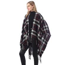 Горячая Распродажа стиль зима Англия плед Теплый Универсальный женский искусственный кашемир шарф трикотажная накидка
