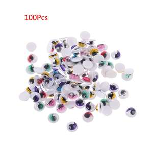 Eyes Doll-Bear 100pcs with Eyelashes for Stuffed-Toy DIY Craft 18mm/20mm Self-Adhesive