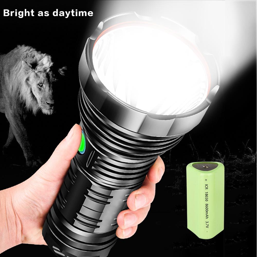 Most Bright G2 LED flashlight XLamp tactical flash lights XHP70 USB rechargeable waterproof light using 18650 26650 for hunting