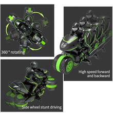 Remote Control Motorcycle Double Sided Stunt Car High Speed Rock Crawler 2.4G 360 Degree RC Motorbike Vehicle Rotating Car Toy