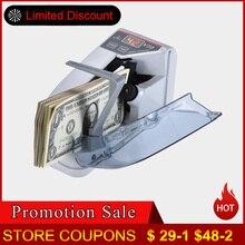 Мини-машина для счета валюты, удобная банкнота, счетчик банкнот, AC или батарея для поддельных денег, доллар, ЕС, США