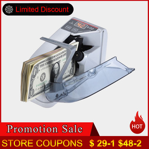 Mini Money Currency Counting Machine Handy Bill Cash Banknote Counter Money AC or Battery Powered for fake money dollar EU US