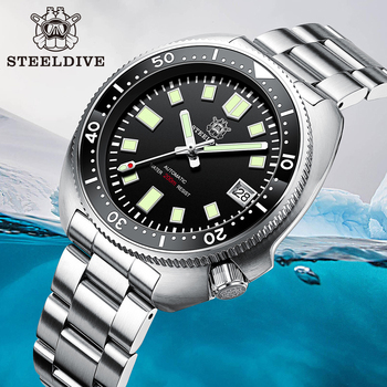 SD1970 New Arrival 2020 Green Ceramic Bezel 20ATM Water Resistant NH35 Automatic watch 6105 Turtle