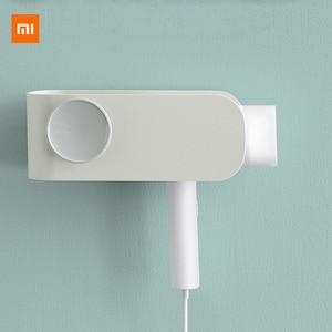 Image 1 - Original Xiaomi Mijia MIJOY Hair Dryer Rack Wall Mount Hair Dryer Holder Hair Dryer Rack Comb Shaver Hold Shelf