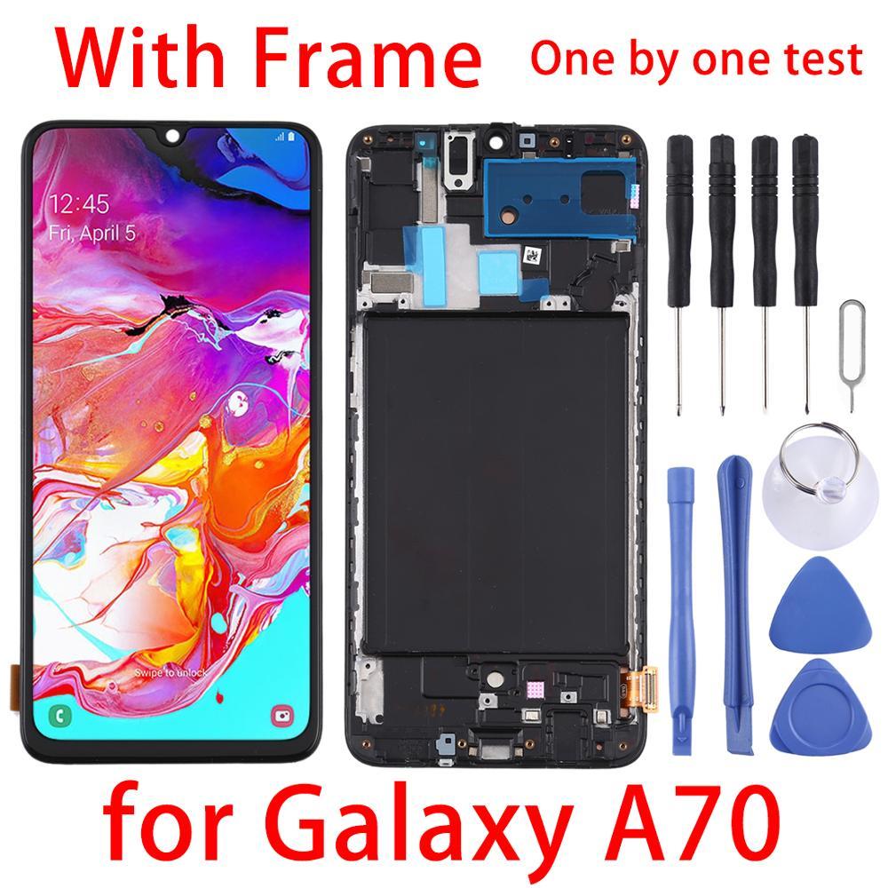 Оригинальный ЖК-дисплей A70 для Galaxy A70,A705F,A705FN,A705GM, A7050,A705W,A705MN,-A705YN,A705X ЖК-дисплей и рамка сенсорный экран дигитайзер