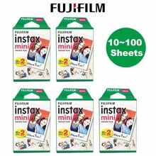 Fujifilm Instax mini film 10 20 30 40 50 60 80 100 arkuszy 3 cal dla Mini 9 Polaroid FUJI aparat natychmiastowy zdjęcie mini 9 8 7s 70 90