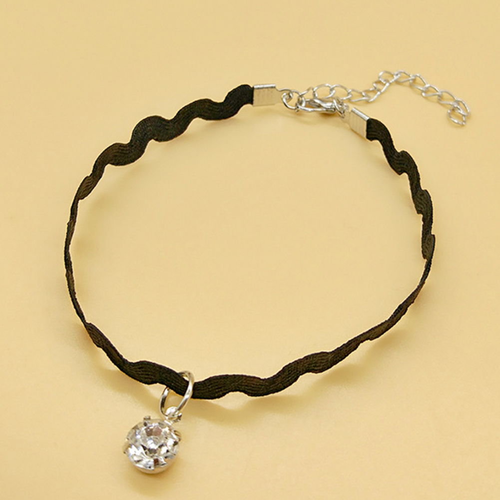 Dressing DIY Home Wave Sparkling Durable Shopping Lace Dating Rhinestone Women Anklet