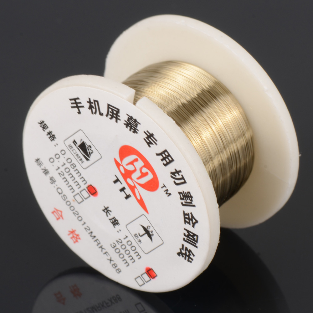 100m/roll 0.08mm Alloy Molybdenum Wire Cutting Wire Line For Mobile Phone LCD Display Screen Separation Cutting Wire Line