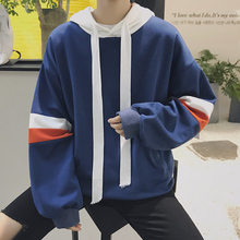 Men Sweatshirts Street Fashion 2019 New Arrival Spring And Autumn Loose Male Hoodies Patchwork Plus Size Coat Student H07