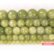 Wholesale Natural Stone China Lt Green Jaspers Jades Round loose Beads For Jewelry Making Diy Bracelet Necklace CJJ20(China)