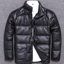 winter male fund halley down jackets thickening head layer cowhide genuine locom