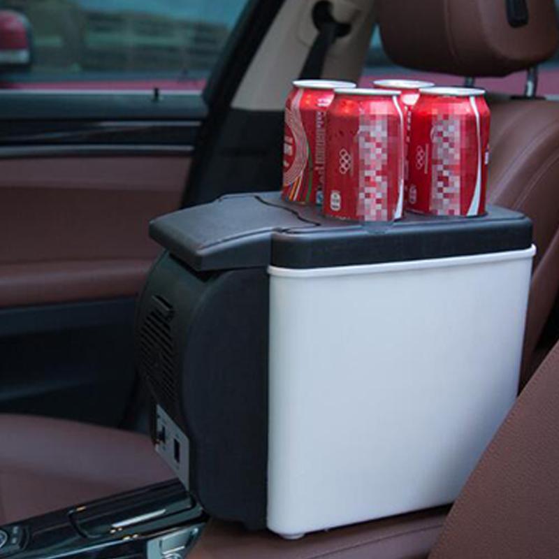 Мини 6L автомобильный холодильник 12v многофункциональный дорожный холодильник домашний охладитель с 4 отверстиями для напитков электрический холодильник для автомобиля 1