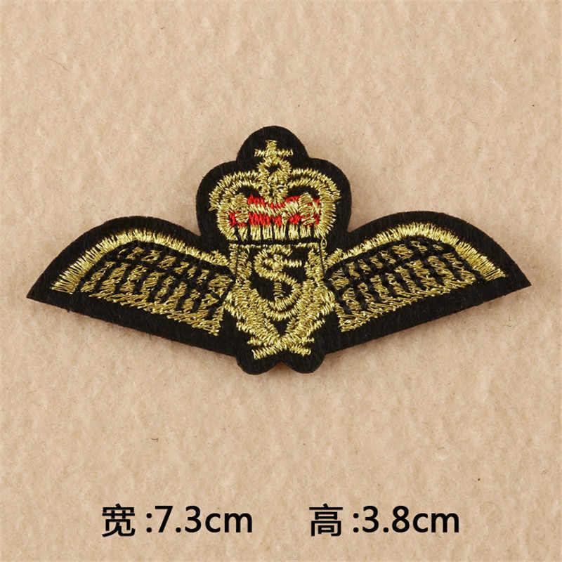 Venta caliente 13 estilos bordado ejército militar parche raya táctica coser parches de hierro para ropa mochila rayas brazalete