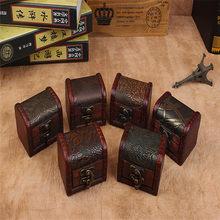Caixa de armazenamento de jóias de madeira europa artesanal bloqueio de armazenamento bix organizador cajones tesouro de madeira caixa de jóias pulseira pérola caso