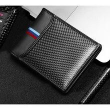 رخصة قيادة السيارة الائتمان حامل بطاقات التعريف الشخصية حافظة نقود من ألياف الكربون لمرسيدس W204 W203 W211 BMW E90 E46 E60 M موستانج سوبارو BRZ