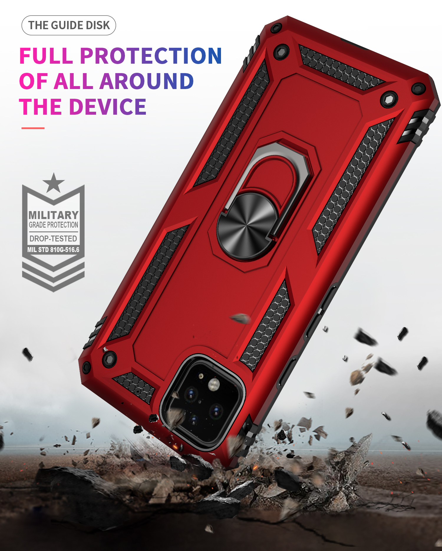 The Armour Magnetic Car Ring Phone Case For Google Pixel