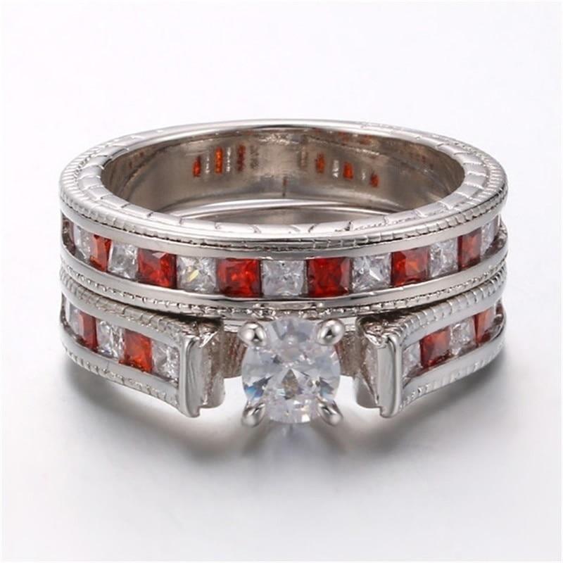 rhinestone red rings