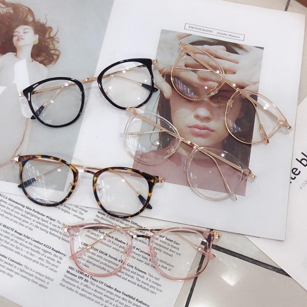 1 sztuk Retro okulary blokujące niebieskie światło komputerowe okulary kobiety okrągłe oko szkło mężczyźni niebieskie światło blokowanie stylowe akcesoria optyczne oprawki do okularów korekcyjnych A96519