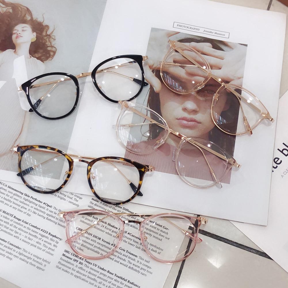 1pcs Retro Anti Blue Ray Computer Glasses Women Round Eye Glass Men Blue Light Blocking Fashion Eyewear Optical Frames A96519