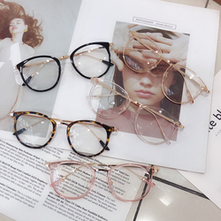 1pcs Retro Anti Blue Ray Computer Glasses Women Round Eye Glass Men Blue Light Blocking Fashion Eyewear Optical Frames A96519