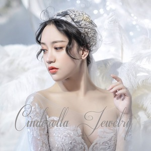 Image 4 - 120 centimetri super fata di colore di champagne del merletto cap stile velo della sposa bella filato morbido dei capelli della sposa accessori