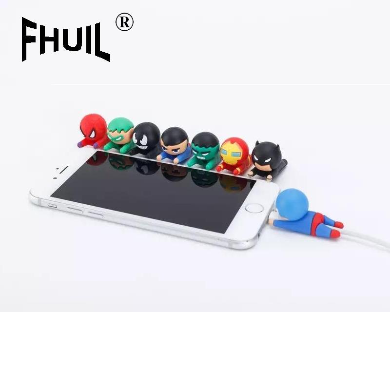 Bite Cable Protector Avengers For IPhone USB Charger Protector Cables Cargador Data Line Cord Holder Wire Organizer Accessories