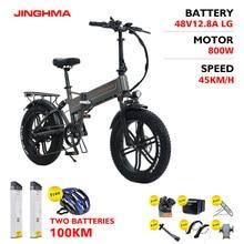 JINGHMA R6S e bike Elektro Fahrrad 800W 48V 12.8AH Lithium-Batterie 4,0 Fett Reifen elektrische electric fat bike bicycle