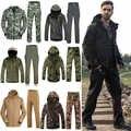 1 ensemble Sport chasse Ghillie costume pour randonnée Camping coque souple polaire veste + pantalon tactique randonnée chasse pêche vêtements