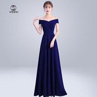 Skyyue Evening Dress Off The Shoulder Robe De Soiree Short Sleeve Elegant Women Party Dresses 2019 Boat Neck Formal Gowns C152