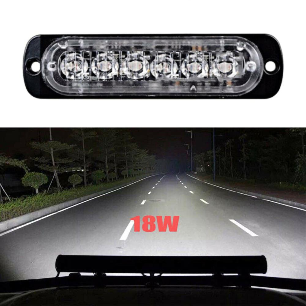 1Pc 18W Car 6LEDs Lights Work Bar Lamp Driving Fog Offroad SUV 4WD High Quality Auto Car Boat Truck Emergency Lights Accessories