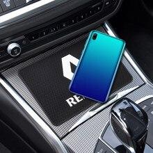 Logotipo do carro antiderrapante esteira do painel do telefone móvel anti-deslizamento esteira para renault espace twingo megane koleos clio zoe twingo