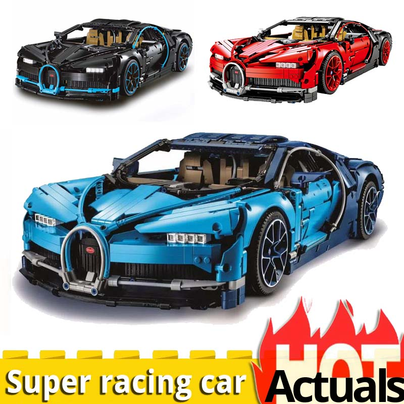 Legoinglys technique bugati 20086 Racing Car Compatible 42083 technic model building kit toys for children boys birthday bricks-in Blocks from Toys & Hobbies    1