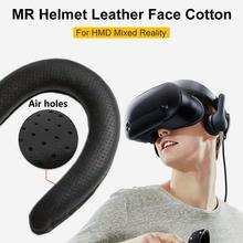 Leather Sponge Eye Mask Cover For Samsung HMD Mixed Reality Headset Replacement Face Pads Light Leaking-proof Cushion