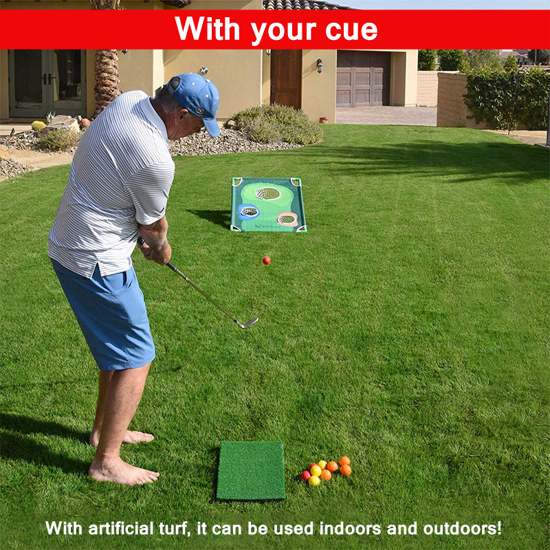 Golfe dobrável chipping net cornhole jogo conjunto