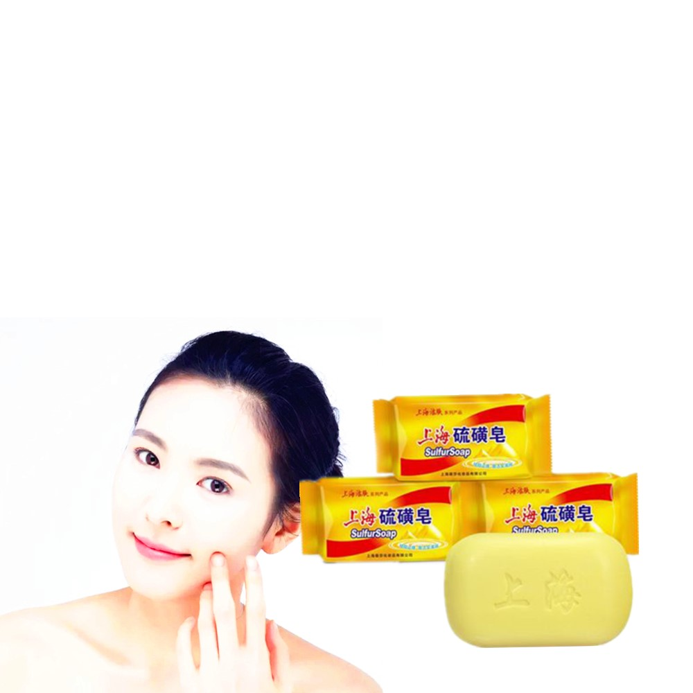 100% Sulphur Soap Eczema Antipruritic Acne Therapy For Fungal Dermatitis Protecting Skin Chinese Old Brand Sulphur Soap