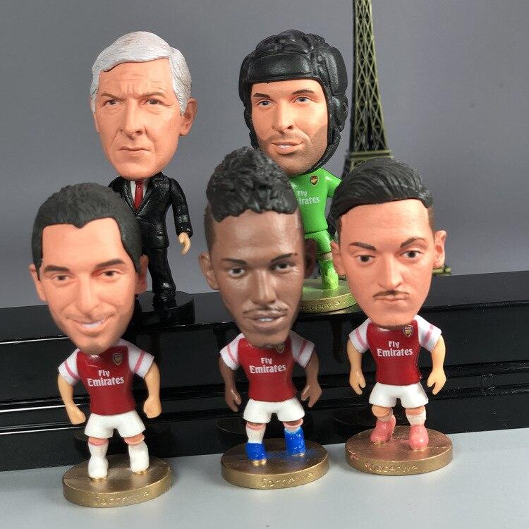 Ronaldo Lionel Andres Messi Neymar Da Silva Mohamed Salah Antoine Griezmann Figure PVC Model Doll Toys Gifts