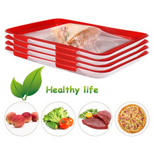 1/2/4/6/8Pcs Creative Food Preservation Tray Food Fresh Keeping Fresh Spacer Organizer Food Preservate Refrigerator Food Storage