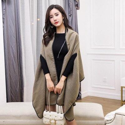 Новинка, роскошный брендовый женский зимний шарф, теплая шаль, женское Клетчатое одеяло, вязанное кашемировое пончо, накидки для женщин, echarpe - Цвет: style 5