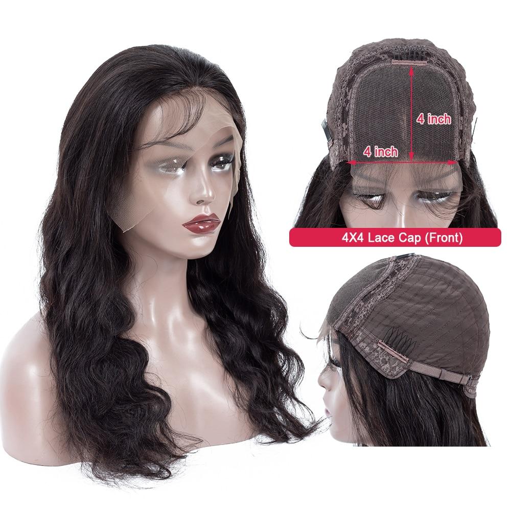 H7a4ecb8f2ea3408ea98e361e5def877cN Body Wave 4*4 Lace Closure Human Hair Wigs For Women Brazilian Remy Hair Wigs With Baby Hair lace closure Wigs Queen Hair
