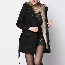 Suéter de mujer abrigo de forro de piel para mujer abrigo de invierno grueso Chaqueta larga con capucha Parka abrigo chaqueta de mujer abrigo de mujer