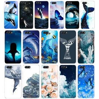 77AA ballena pez ola mar suave TPU funda para Huawei Honor 10 10 Lite 20 PRO Lite