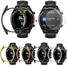 Electroplate Soft Tpu Case Cover For Huawei Watch Gt 46mm With Screen Protector Sports Watch Sports Smart Watch(China)