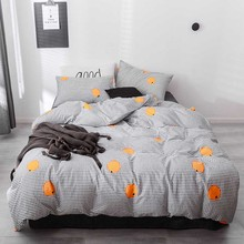 King Queen Size Double Sided Comforter Bedding Sets Grid Men Female Bed Linen Black White Striped Bed Duvet Cover Pillow Set