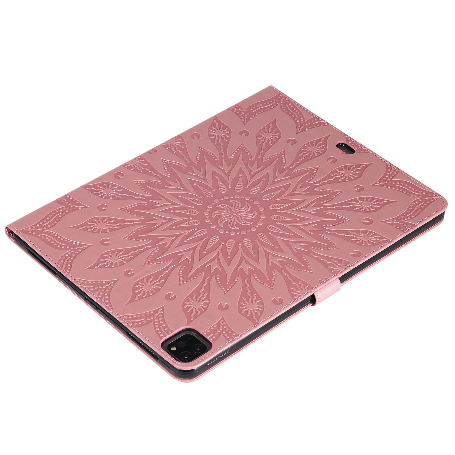 Flower 3D Embossed Cover for iPad Pro 12 9 Case 2020 Leather Protective Shell Skin for